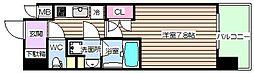 プールトゥジュール梅田ウエスト[10階]の間取り