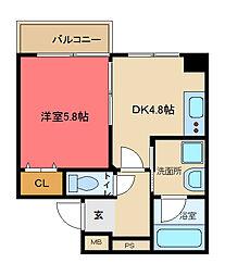 ブリエ東大阪[603号室]の間取り