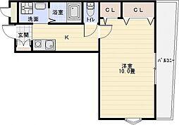 ティーエヌコート[3階]の間取り