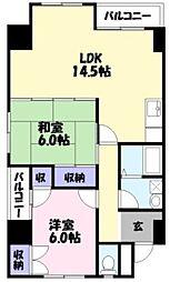 ジヴェルニー岡田[7階]の間取り