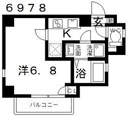 オーシャン青山[401号室号室]の間取り