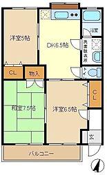 ハイム須賀3 202[2階]の間取り
