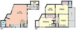 [一戸建] 神奈川県横須賀市上町3丁目 の賃貸【/】の間取り