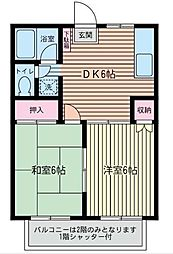 レスペ文京[2階]の間取り
