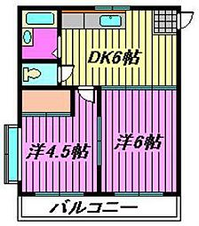 メゾン坂本[302号室]の間取り