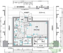 ESLEAD SHINOSAKA GRAND GATE NORTH 7階1Kの間取り