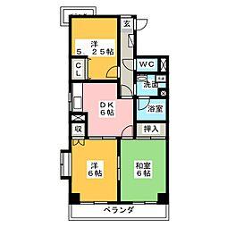シティーコーポ鯛取[3階]の間取り