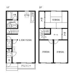 [テラスハウス] 東京都府中市白糸台3丁目 の賃貸【/】の間取り