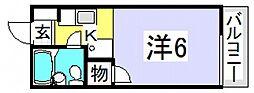グランツ高須[1階]の間取り