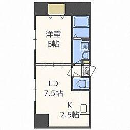 ラポート二十四軒[5階]の間取り