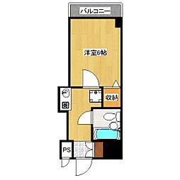 ホーユウコンフォルト京都伏見[2階]の間取り