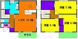 [一戸建] 静岡県浜松市浜北区沼 の賃貸【/】の間取り