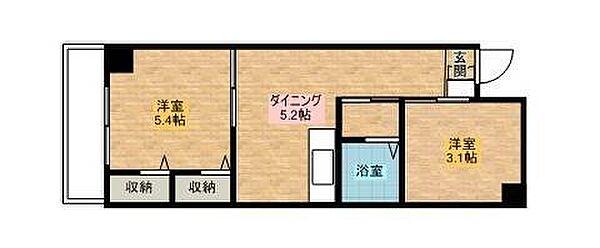 仙台坂アルカディア[902号室]の間取り