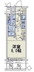 スワンズシティ大阪城ノース 2階1Kの間取り