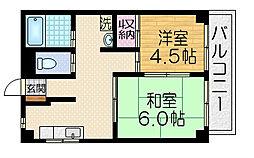 桃栄マンション[4階]の間取り