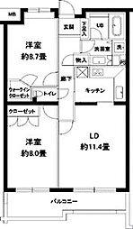 カスタリア参宮橋[2階]の間取り