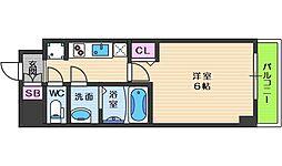 スプランディッド天王寺パークサイド 11階1Kの間取り