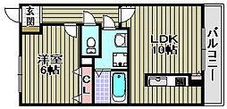 ステイションランドナガタキ2[2階]の間取り