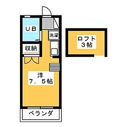 ツインハイツB棟[2階]の間取り