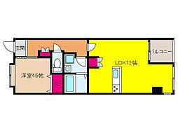 JR東海道・山陽本線 六甲道駅 徒歩10分の賃貸マンション 1階1LDKの間取り