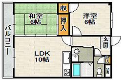 ライフイン宝塚III[4階]の間取り