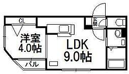 プレシェルト南円山[3階]の間取り