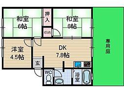 シャロームA棟[1階]の間取り