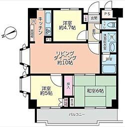 コーラル東戸塚[4階]の間取り
