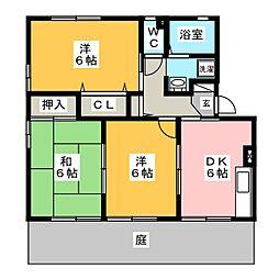 ファミールメゾン B棟[1階]の間取り