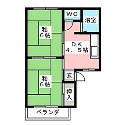 アトゥレうずら[2階]の間取り