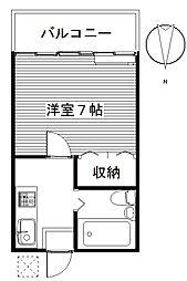 三樹ハイツ上中居[1階]の間取り