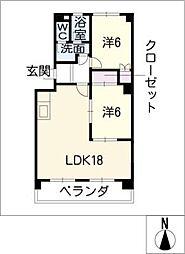 カーサユタカ[4階]の間取り