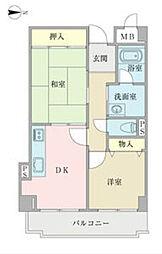 ミトハウス〜MITO HOUSE[401号室]の間取り
