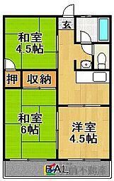 赤坂ハイツ[306号室]の間取り