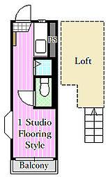 モア1[2階]の間取り