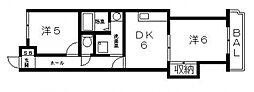 光南ガーデンハイツ[3B号室号室]の間取り