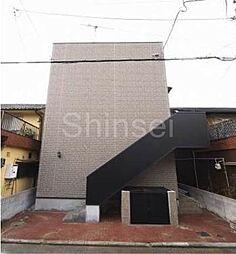 大阪府堺市堺区二条通の賃貸アパートの外観