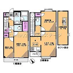 [テラスハウス] 東京都大田区東雪谷2丁目 の賃貸【/】の間取り