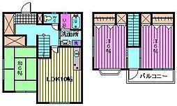 [テラスハウス] 埼玉県さいたま市西区大字指扇651丁目 の賃貸【埼玉県 / さいたま市西区】の間取り