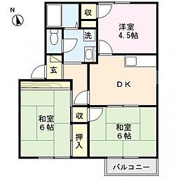 ファミールTAGAYA A棟[102号室号室]の間取り