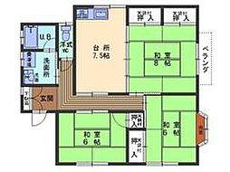 広島県呉市西辰川1丁目の賃貸アパートの間取り