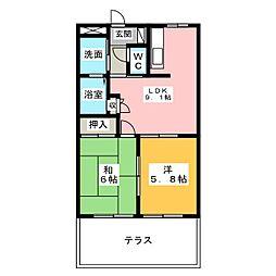 エトワール・K[1階]の間取り