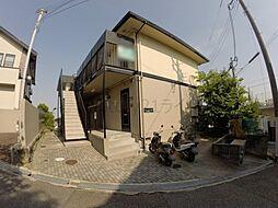 兵庫県宝塚市仁川月見ガ丘の賃貸アパートの外観