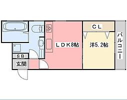 フロンティア1[303号室]の間取り