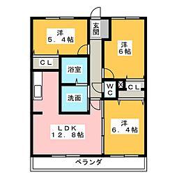 ワンダフルコートII[1階]の間取り