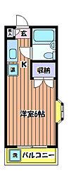 東京都立川市栄町3丁目の賃貸マンションの間取り