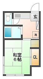 東京都品川区南品川4丁目の賃貸アパートの間取り