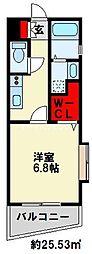 アクシオ片野 9階1Kの間取り