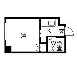 藤井ビル北14条[1階]の間取り