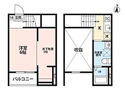 Ju-Jitsu Terrace(ジュウジツテラス) [2階]の間取り